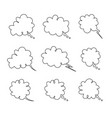 set bubbles for thinking or speech text vector image vector image