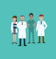 set of doctors characters male and female medical vector image vector image
