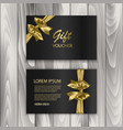 set of shiny gift voucher with realistic golden vector image vector image