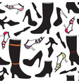 shoes icon seamless pattern fashion footwear vector image
