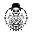 skull hat 0002 vector image