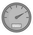 Speedometer icon black monochrome style vector image vector image