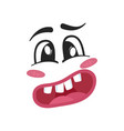 surprise emoji emoticon or smiley face vector image vector image