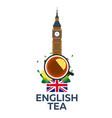 tea time cup of tea with lemon english tea vector image