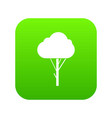 tree icon digital green vector image vector image