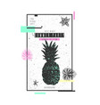 tropical exotic plants stylish poster trendy vector image vector image