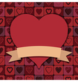 valentine hearts decoration vector image vector image