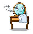 waiter dressing table mascot cartoon vector image