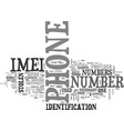 what is imei text word cloud concept vector image vector image