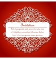 White paper decor with shadow on red vector image vector image