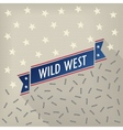 Wild west poster with bullets and stars vector image vector image