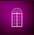 window icon isolated on purple background vector image