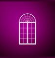 window icon isolated on purple background vector image
