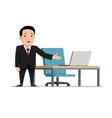 job invitation male businessman in black suit vector image