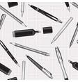 pen pencil set seamless pattern education vector image