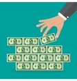 Human hand takes money vector image