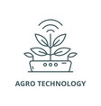 agro technology line icon outline concept vector image vector image