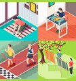 alternative education isometric design concept vector image vector image