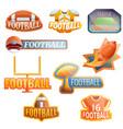 american football equipment logo set cartoon vector image vector image