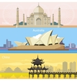 Australian China and India vector image vector image