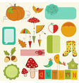 Autumn Cute Elements Set vector image vector image