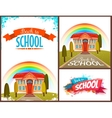 Back to school banners and poster set vector image