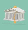 Bank broken vector image