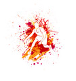 basketball player blots vector image vector image