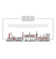 berlin landmark panorama in linear style vector image vector image