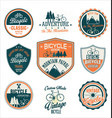 bicycle retro vintage badge and shield collection vector image vector image