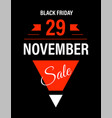 black friday sale 29 november promo banner vector image vector image