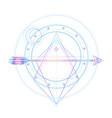 blackwork tattoo flash sacred geometry arrow and vector image vector image