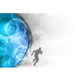 blue background with the runner vector image