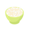 bowl of round rice cereal isolated healthy food vector image
