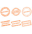 business stamps vector image vector image
