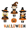 Characters for Halloween in cartoon style vector image
