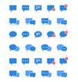 chat bubble set speech and message icons vector image
