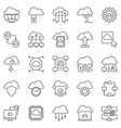 cloud computing outline icons set vector image