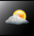 cloud sky weather background sun vector image