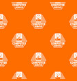 computer service pattern orange vector image vector image
