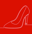 Continuous one line lady high heel shoe icon