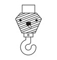 crane hook flat icon monochrome kawaii silhouette vector image vector image
