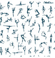 dancing people sketch for your design vector image vector image