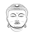 Drawing Buddha Head vector image vector image