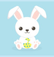 easter bunny and egg vector image vector image