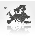Europe map background vector image