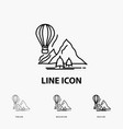 explore travel mountains camping balloons icon in vector image vector image