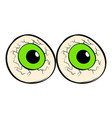 eyeballs icon cartoon vector image