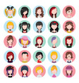 flat colored women icons vector image vector image