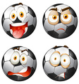 Footballs with facial expressions